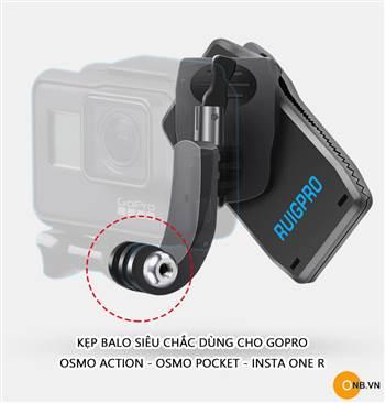 Ruigpro kẹp balo kiểu mới cho Osmo Pocket - Osmo Action - Gopro