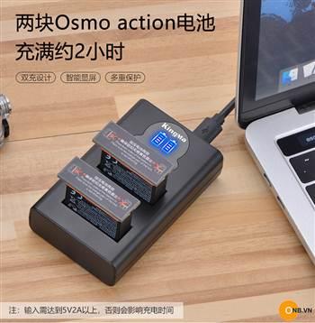 Sạc Pin cho Osmo Action, sạc đôi kingma nhỏ gọn tiện lợi