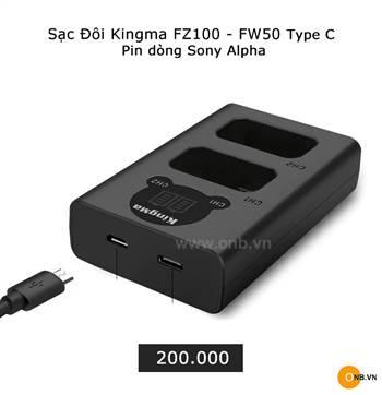 Sạc pin đôi Kingma cho pin FZ100 của SONY A7III A7RIII A9