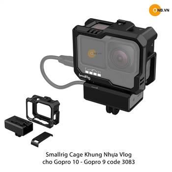 SmallRig Cage Gopro 10 Gopro 9 - Khung nhựa bảo vệ gắn adapter mic 3083