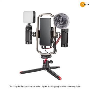 SmallRig Professional Phone Video Rig Kit for Vlogging & Live Streaming 3384