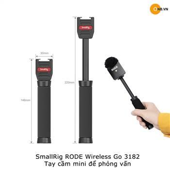 SmallRig Interview Rode Wireless Go - Saramonic 3182 - Tay cầm mini phỏng vấn