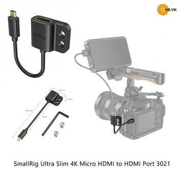 SmallRig Ultra Slim 4K HDMI Adapter Cable to Micro HDMI 3021