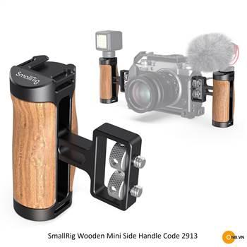 SmallRig Wooden Mini Side Handle 2913 - Tay cầm báng gỗ