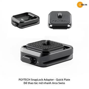 PGYTECH SnapLock Plate Adapter - Đế thao tác mở nhanh Quick Plate