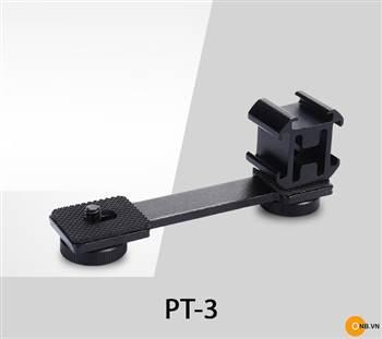 Thanh nối dài PT-3 gắn phụ kiện micro, đèn cho Gimbal điện thoại