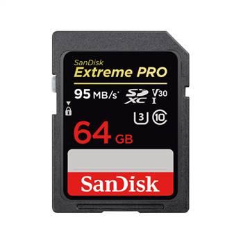 Thẻ nhớ SanDisk 64GB Extreme Pro SDXC V30 95MB/90 MB/s - Hàng Chính Hãng