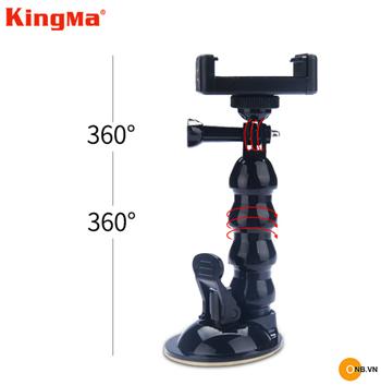 Tripod Kingma xoay 360 dạng hít cho Gopro Osmo Aciont, Pocket