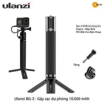 Ulanzi BG-3 10000mAh PowerBank - Gậy sạc USB và Type-C PD 18W
