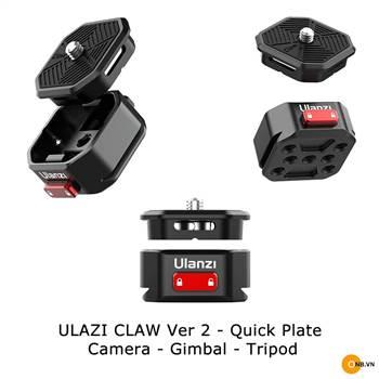 Ulanzi Claw Ver 2 - Quick Plate đế thao tác mở nhanh