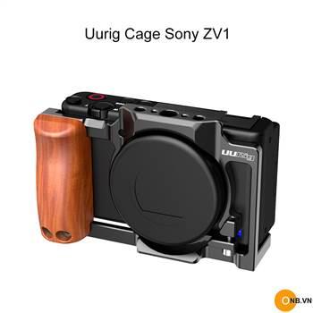 Uurig Cage Sony ZV1 - Khung bảo vệ, quay Vlog kèm báng gỗ